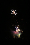 Fire works light up the sky on July 4 2009