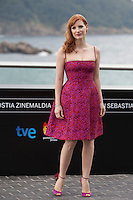 US actress Jessica Chastain presents her film: 'The Disapearence' during the 62st San Sebastian Film Festival in San Sebastian, Spain. September 23, 2014. (ALTERPHOTOS/Caro Marin)