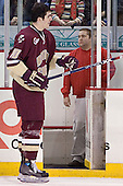 Brian Boyle - The Boston College Eagles defeated the University of Massachusetts-Lowell River Hawks 4-3 in overtime on Saturday, January 28, 2006, at the Paul E. Tsongas Arena in Lowell, Massachusetts.