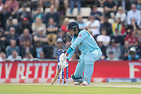 Joe Root (England) drives through point during England vs West Indies, ICC World Cup Cricket at the Hampshire Bowl on 14th June 2019