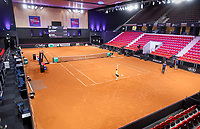 The Hague, The Netherlands, Februari 6, 2020,    Sportcampus, FedCup  Netherlands -  Balarus, warming up<br /> Photo: Tennisimages/Henk Koster