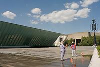 The new MUAC, Museo de Arte Contemporaneo at the mexico City campus (Ciudad Universitario) of the UNAM (Universidad Autonomo de Mexico) Mexico City. June 20, 2008