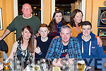Aghadoe neighbours who met up for a meal to celebrate the new year in the Porterhouse restaurant on Saturday front row l-r: Louise, Shane, Donie and Dean O'Sullivan. back row: Kevin Moynihan, Laura O'Sullivan and Ann Moynihan