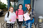 Sadhbh Daly (Currow), Aoide Moynihan (Killarney) Fionnuala Mangan from Duagh after finishing Irish paper 2 in their Leaving Cert exam in Brookfield College on Tueday.