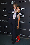 Greg Hahn and guest arrive at the 2017 Clio Awards in The Tent at Lincoln Center in New York City on September 27, 2017.