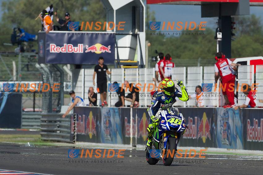 Valentino Rossi Yamaha 1st place <br /> Termas De Rio Hondo (Argentina) 19/04/2015 - gara Moto GP / foto Luca Gambuti/Image Sport/Insidefoto