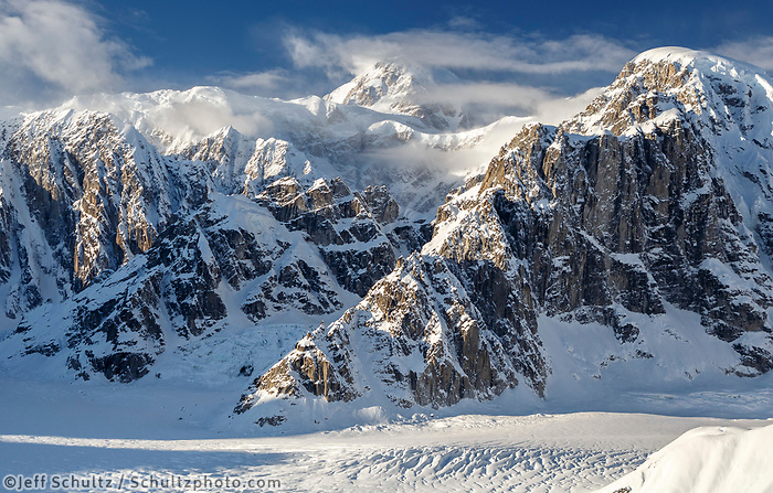 Aerial Winter landscape of Denali and the Alaska Range and Ruth Glacier.  Winter 2017<br /> <br /> Photo by Jeff Schultz/SchultzPhoto.com  (C) 2017  ALL RIGHTS RESERVED