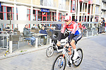Mathieu Van Der Poel (NED) Corendon-Circus arrives at sign on before the 2019 Gent-Wevelgem in Flanders Fields running 252km from Deinze to Wevelgem, Belgium. 31st March 2019.<br /> Picture: Eoin Clarke | Cyclefile<br /> <br /> All photos usage must carry mandatory copyright credit (© Cyclefile | Eoin Clarke)