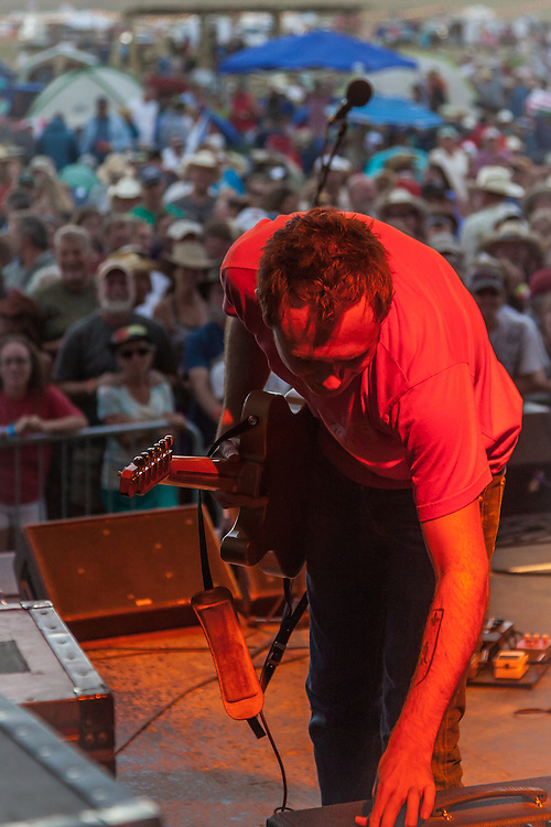 Jedd Hughes of the Rodney Crowell Band performs at the Red Ants Pants Festival