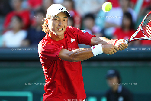 Go Soeda (JPN), September 18, 2011 - Tennis : Davis Cup 2011, World Group play-off at Ariake Colosseum, Tokyo, Japan. (Photo by Daiju Kitamura/AFLO SPORT) [1045]