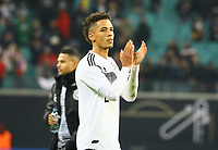 Thilo Kehrer (Deutschland Germany) bedankt sich bei den Fans - 15.11.2018: Deutschland vs. Russland, Red Bull Arena Leipzig, Freundschaftsspiel DISCLAIMER: DFB regulations prohibit any use of photographs as image sequences and/or quasi-video.