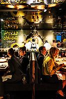 The interior dinning area at El Five restaurant in Denver, Colorado, Wednesday, October 18, 2017.<br /> <br /> Photo by Matt Nager
