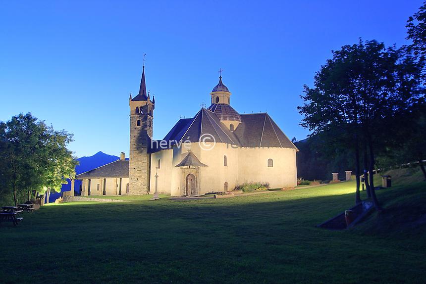 France, Savoie (73), vallée des Belleville, Saint-Martin-de-Belleville, chapelle Notre-Dame-de-la-Vie // France, Savoie, valley of Belleville, Saint Martin de Belleville, chapel Notre Dame de la Vie