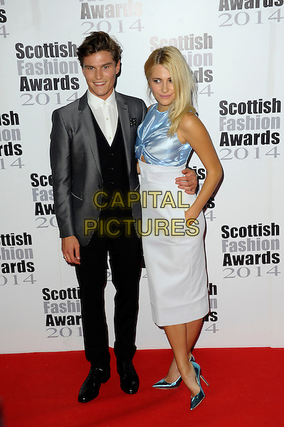 Oliver Cheshire &amp; Pixie Lott attends The Scottish Fashion Awards held at 8  Northumberland Avenue, on September 1, 2014 in London, England. <br /> CAP/CJ<br /> &copy;Chris Joseph/Capital Pictures
