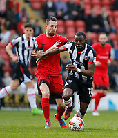 Grimsby Town's Tom Bolarinwa on the ball during the Sky Bet League 2 match between Leyton Orient and Grimsby Town at the Matchroom Stadium, London, England on 11 March 2017. Photo by Carlton Myrie / PRiME Media Images.