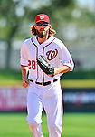 4 March 2012: Washington Nationals outfielder Jayson Werth trots back to the dugout during a game against the Houston Astros at Space Coast Stadium in Viera, Florida. The Astros defeated the Nationals 10-2 in Grapefruit League action. Mandatory Credit: Ed Wolfstein Photo