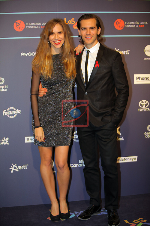 Los 40 MUSIC Awards 2016 - Photocall.<br /> Aina Clotet &amp; Marc Clotet.