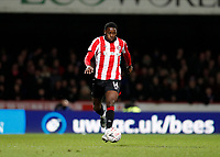 4th January 2020; Griffin Park, London, England; English FA Cup Football, Brentford FC versus Stoke City; Josh Dasilva of Brentford - Strictly Editorial Use Only. No use with unauthorized audio, video, data, fixture lists, club/league logos or 'live' services. Online in-match use limited to 120 images, no video emulation. No use in betting, games or single club/league/player publications