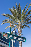 Hotel Way Street Sign at the Convention Center Area