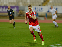 20180228 - LARNACA , CYPRUS : Austrian Viktoria Pinther pictured during a women's soccer game between Spain and Austria , on wednesday 28 February 2018 at GSZ Stadium in Larnaca , Cyprus . This is the first game in group B for Spain and Austria during the Cyprus Womens Cup , a prestigious women soccer tournament as a preparation on the World Cup 2019 qualification duels. PHOTO SPORTPIX.BE | DAVID CATRY