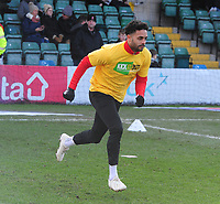 Lincoln City's Bruno Andrade during the pre-match warm-up<br /> <br /> Photographer Andrew Vaughan/CameraSport<br /> <br /> The EFL Sky Bet League Two - Lincoln City v Northampton Town - Saturday 9th February 2019 - Sincil Bank - Lincoln<br /> <br /> World Copyright &copy; 2019 CameraSport. All rights reserved. 43 Linden Ave. Countesthorpe. Leicester. England. LE8 5PG - Tel: +44 (0) 116 277 4147 - admin@camerasport.com - www.camerasport.com