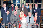 Catriona Casey and Stephen Broderick Kilcummin celebrate the christening of their baby Vida in the White Gates Hotel Killarney on Saturday front row l-r: Trevor Casey, Stephen Broderick, Catriona Casey, Kathleen Murphy, Tina Broderick. Back row: Robert Casey, Maurice, Ann Casey, Jerry Broderick, Susan Cotter and Donie Broderick  ..