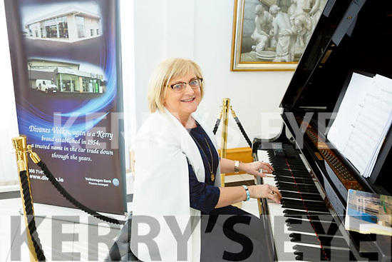 Helen Lyons of Castleisland on the piano in Divans during the RTE's Nationwide recording in the Castleisland on Tuesday last