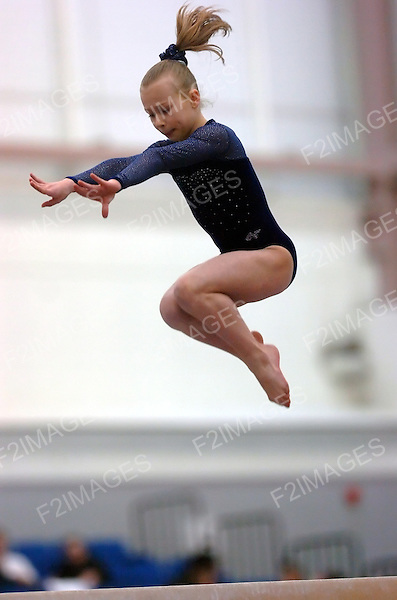 Womens Artistic Gymnastics.Level two Compulsary competition at Park Road Liverpool March 2006.<br /> Photos by Alan Edwards