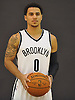 Brooklyn Nets No. 0 Shane Larkin poses for portraits during Media Day held at the team's practice center in East Rutherford, New Jersey on Monday, September 28, 2015.<br /> <br /> James Escher