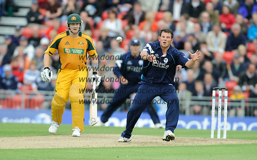 Scotland V Australia ODI at Grange CC, Edinburgh - Scotland's Gordon Drummond - Picture by Donald MacLeod 27.08.09