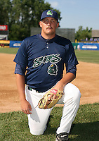 Robert Delaney of the Beloit Snappers during the Midwest League All-Star game.  Photo by:  Mike Janes/Four Seam Images