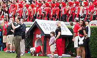 The Georgia Bulldogs played North Texas Mean Green at Sanford Stadium.  After North Texas tied the game at 21 early in the second half, the Georgia Bulldogs went on to score 24 unanswered points to win 45-21.  Georgia fans