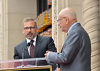 LOS ANGELES, CA. June 07, 2019: Steve Carrell & Alan Arkin at the Hollywood Walk of Fame Star Ceremony honoring Alan Arkin.<br /> Pictures: Paul Smith/Featureflash