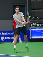 Rotterdam,Netherlands, December 15, 2015,  Topsport Centrum, Lotto NK Tennis, Maikel Borg (NED)<br /> Photo: Tennisimages/Henk Koster