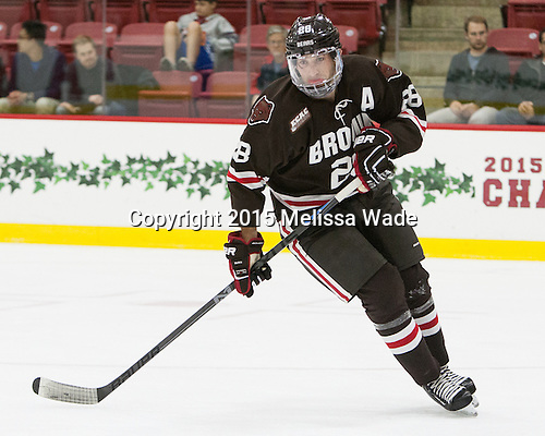 Nick Lappin (Brown - 28) - The Harvard University Crimson defeated the visiting Brown University Brown Bears 5-2 (EN) on Saturday, November 7, 2015, at Bright-Landry Center in Boston, Massachusetts.