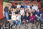 Conor Fitzell, seated second from right, celebrated his 18th birthday with his family and friends in An Toher Ban, Kilmoyley on Saturday night...