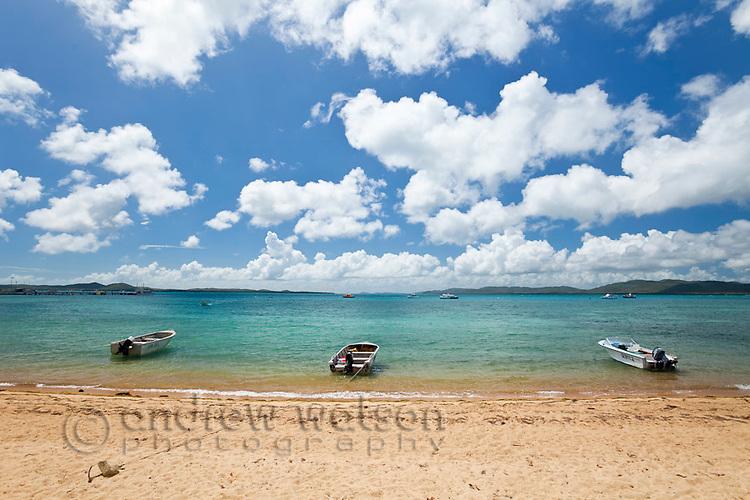 Boats moored at beach.  Thursday Island, Torres Strait Islands, Queensland, Australia