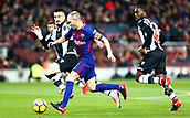 7th January 2018, Camp Nou, Barcelona, Spain; La Liga football, Barcelona versus Levante; Andres Iniesta breaks into the Levante penalty area