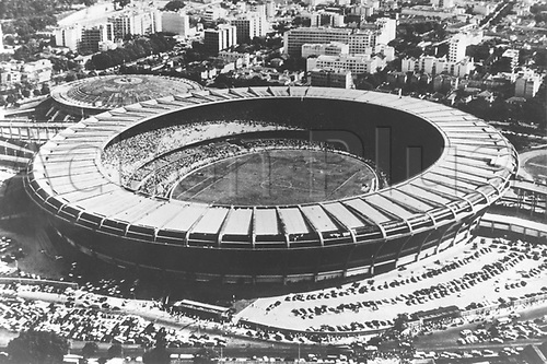 Aerial view of the Maracana Stadium  in Rio de Janeiro, Brazil, 16 July 1950. The soccer team of Uruguay won the World Cup in 1950 for a second time by beating the Brazilian team in the final.
