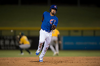 AZL Cubs 1 left fielder Yovanny Cuevas (21) hustles to third base during an Arizona League game against the AZL Cubs 1 at Sloan Park on June 28, 2018 in Mesa, Arizona. The AZL Athletics defeated the AZL Cubs 1 5-4. (Zachary Lucy/Four Seam Images)