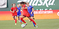 Portland, OR - Saturday July 30, 2016: Nadia Nadim during a regular season National Women's Soccer League (NWSL) match between the Portland Thorns FC and Seattle Reign FC at Providence Park.