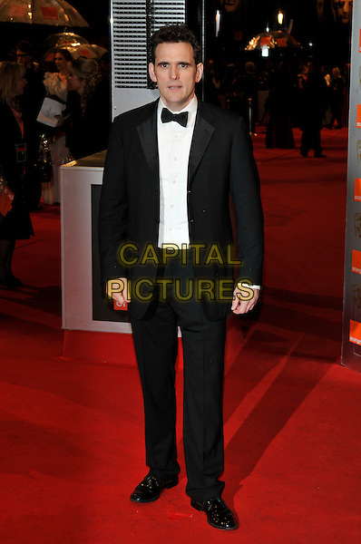 MATT DILLON.Arrivals at the Orange British Academy Film Awards 2010 at the Royal Opera House, Covent Garden, London, England, UK, .21st February 2010.BAFTA BAFTAs full length black tux tuxedo bow tie .CAP/PL.©Phil Loftus/Capital Pictures