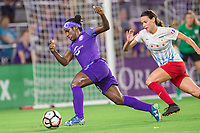 Orlando, FL - Saturday August 05, 2017: Jasmyne Spencer during a regular season National Women's Soccer League (NWSL) match between the Orlando Pride and the Chicago Red Stars at Orlando City Stadium.