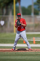 St. Louis Cardinals first baseman Zach Kirtley (71) during a Minor League Spring Training Intrasquad game on March 28, 2019 at the Roger Dean Stadium Complex in Jupiter, Florida.  (Mike Janes/Four Seam Images)