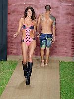 Gioia Jansen at Julia Veli Swimwear Show during Funkshion Fashion Swim Week 2013 at Miami Beach, FL on July 19, 2012
