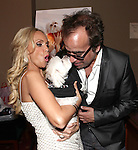 "Kristin Chenoweth with her dog Madeline Kahn ""Maddie"" Chenoweth & Richard Jay Alexander.attending the after performance reception for.Kristin Chenoweth World Tour directed by Richard Jay Alexander at City Center in New York City on 6/02/2012"
