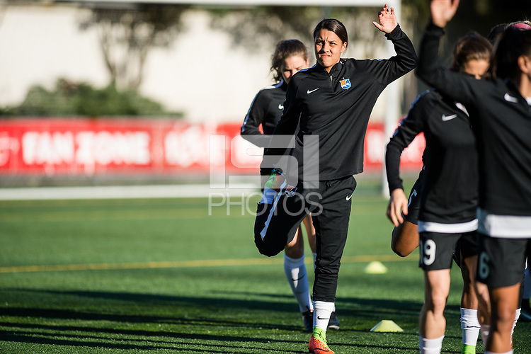 Seattle, WA - April 15th, 2017: Samantha Kerr during a regular season National Women's Soccer League (NWSL) match between the Seattle Reign FC and Sky Blue FC at Memorial Stadium.