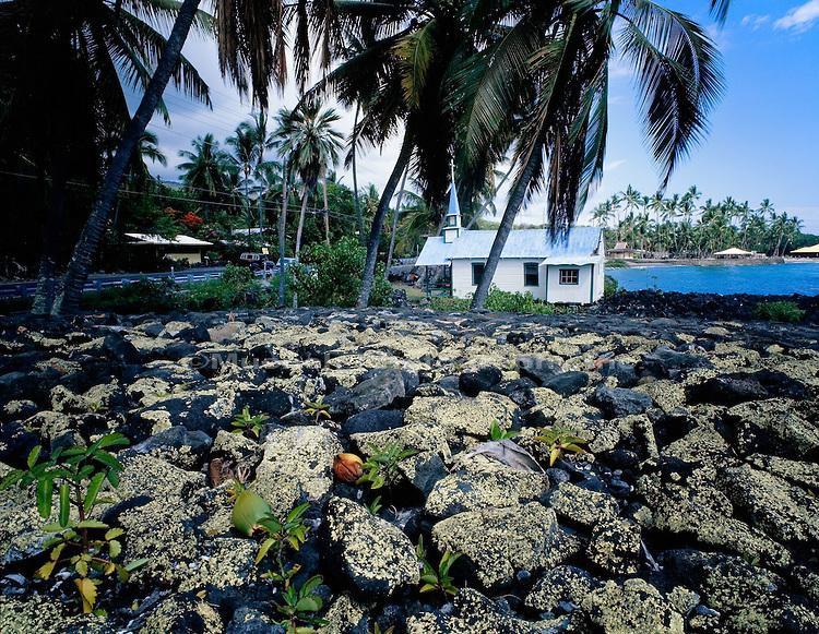 """St. Peters Catholic Church,  Little Blue Church , Kona Coast, Hawaii   HAWAII"""