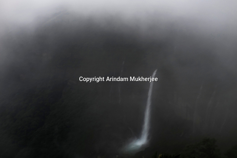NohKaliKai falls in Cherrapunji. It is the tallest plunge waterfall in India (height: 340 mts)