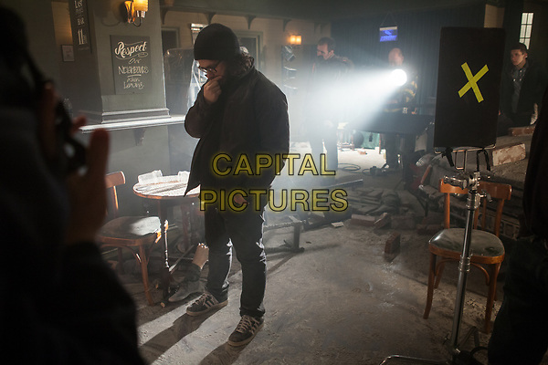 The World's End (2013) <br /> Behind the scenes photo of Edgar Wright<br /> *Filmstill - Editorial Use Only*<br /> CAP/KFS<br /> Image supplied by Capital Pictures